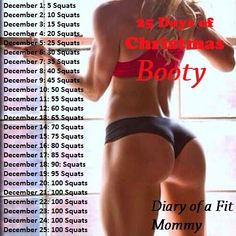25 Days of Christmas Booty Squat Challenge