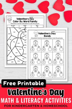 Are you looking for some FREE Valentine's Day ideas teachers. These FREE preschool worksheets are the perfect spring activities for kindergarteners . This set includes kindergarten activities such as all about me, coloring pages, kindergarten shapes, number activities and more. As a teacher I sent these printables home to my students as homework, Literacy Worksheets, Kindergarten Activities, Kindergarten Poetry, Kindergarten Shapes, Maths Resources, Number Activities, Math Literacy, Spring Activities, Valentines Day Words