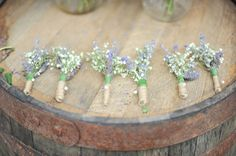 Rustic Boutonnieres  - PHOTO SOURCE • JACQUI COLE PHOTOGRAPHY