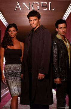Angel. The original trio! L-R Cordelia Chase, Angel and Allen Francis Doyle.