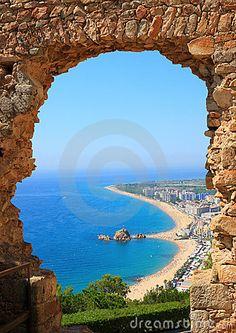 Blanes view (Costa Brava,Catalonia)