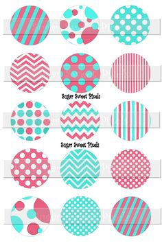 INSTANT DOWNLOAD Aqua Blue Coral  Patterns Blank by sugarnspicebow Bottle Cap Magnets, Bottle Cap Crafts, Bottle Caps, Coral Pattern, Pink Patterns, Aqua Blue, Monogram Wallpaper, Planner Tabs, Acrylic Keychains