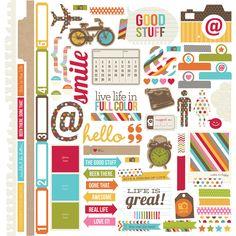 Fundamentals 12x12 Sticker   Simple Stories