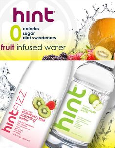 Fruit Infused Flavored Water, Taste the Delicious, Bubble-Free Hint Water Fun Drinks, Yummy Drinks, Healthy Drinks, Get Healthy, Healthy Habits, Healthy Snacks, Yummy Food, Healthy Recipes, Beverages