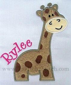 Giraffe Applique Machine Applique Designs, Applique Embroidery Designs, Applique Patterns, Applique Ideas, Sewing Machine Embroidery, Embroidery Machines, Zine, Giraffe Crafts, Applique Cushions