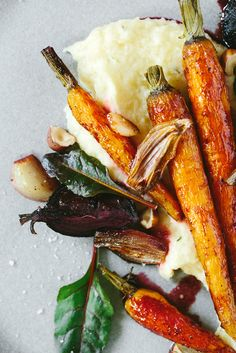 ROASTED VEGETABLES with CELERY ROOT MASHED POTATOES [kraut-kopf]