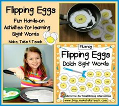 Flipping eggs! Fun hands-on activity for learning and practicing sight words