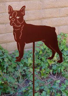 Boston Terrier Garden Stake Pet Memorial Ornament by HauteSteel, $38.00
