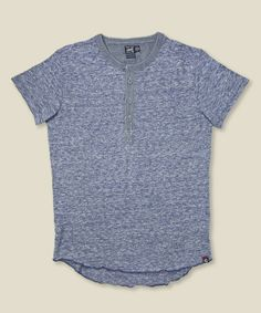 5e6c83231da STAG - Grayers - Slub Jersey Henley - Heather Navy - With the SeaVees Buck  shoe