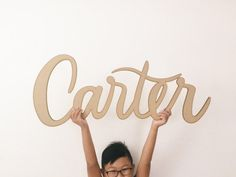 Large Custom Drawn Laser Cut Names  THESE TAKE ABOUT 3 WEEKS TO MAKE, PLEASE…