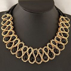 crystal choker necklace on sale at reasonable prices, buy Statement Gold Chain Double Big Bead Crystal Necklace Women 2018 Vintage Collar Choker Necklaces & Pendants Fashion Bijoux from mobile site on Aliexpress Now! Diy Jewelry Necklace, Crystal Bead Necklace, Beaded Choker Necklace, Crystal Choker, Necklace Sizes, Fashion Necklace, Pendant Jewelry, Pendant Necklace, Geek Jewelry