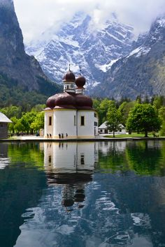 Photo of the day for 8/19/15 is St. Bartholomä on Lake Konigssee: Berchtesgadener Germany