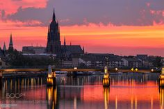 Dramatic Sunrise Frankfurt Cathedral River Main by JoeDanielPrice check out more here https://cleaningexec.com