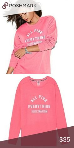 Pink Sweatshirt More details to come. Excellent condition. Soft  and comfy. PINK Tops Sweatshirts & Hoodies