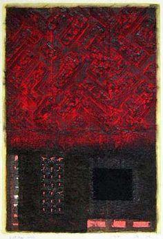 D-28.Mar.2002  43x29cm  paper making, painting, collage  林孝彦 HAYASHI Takahiko 2002