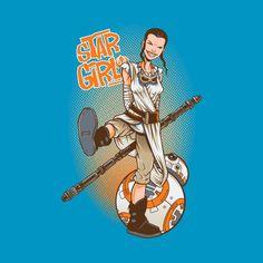 Awesome 'Star+Girl' design on TeePublic! - Funny Shirt (SciFi Tshirts)