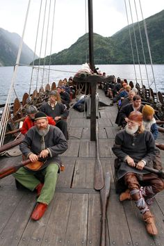 Vikings ( My Icelandic Grandmother told me that they would not allow anyone on the longboats who could not sing. so in an odd way, we bred for singing voices since the wealthiest and most successful were those who went a-Viking) Viking Life, Viking Warrior, Viking Longship, Old Sailing Ships, Viking Culture, Old Norse, Viking Ship, Norse Vikings, Norse Mythology