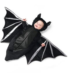 baby bat costume - Only at Chasing Fireflies - Does your baby seem to be a nocturnal creature? Up half the night? Here's the perfect costume -- a delightfully plush hooded bunting with silvery trim.