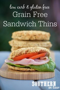 Grain Free bread that tastes great and is perfect for sandwiches?! This Grain Free Sandwich Thins Recipe is so easy to make, not to mention healthy, low carb, gluten free, high protein, clean eating friendly and possibly even paleo! Perfect for both sweet and savoury fillings.