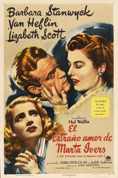 """CAST: Barbara Stanwyck Van Heflin, Lizabeth Scott, Kirk Douglas, Judith Anderson; DIRECTED BY: Lewis Milestone; Features: - 11"""" x 17"""" - Packaged with care - ships in sturdy reinforced packing material"""