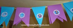 Party decorations for Frozen birthday party