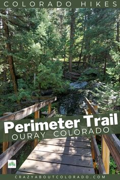Ouray Perimeter Trail, this is an adventure with so many natural sites along the trail. Bridges, aspen fields, unusual rocks, cliff drops, waterfalls, tunnel, and views! It's approx. 5-6 miles of not knowing what to expect on the next corner. Great fun and a great hike.
