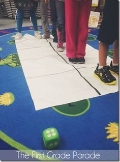 The First Grade Parade: Life Sized Subtraction Teaching Subtraction, Subtraction Activities, Teaching Math, Math Activities, Teaching Ideas, Numeracy, Educational Activities, Math Games, Ks1 Maths