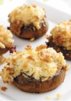 PHILLY Stuffed Mushrooms — This delicious and easy appetizer takes just 20 minutes to prep for the oven! You'll want to have copies of the recipe ready during your holiday dinner party.
