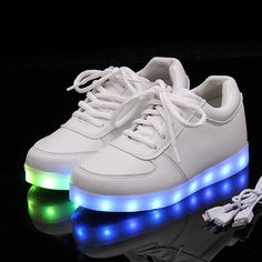 Led Shoes Unisex Casual Shoes Women Men Led Luminous Lighted Shoes With Led Black White #>=#>=#>=#>=#> Click on the pin to check out discount price, color, size, shipping, etc. Save and like it!