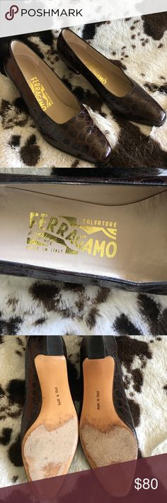 Salvatore Ferragamo Pumps EUC Leather Shoe. Made in Italy. All proceeds from this closet benefit a Women's Resource Center. Salvatore Ferragamo Shoes Heels