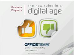 Business Etiquette - the New Rules in a Digital Age