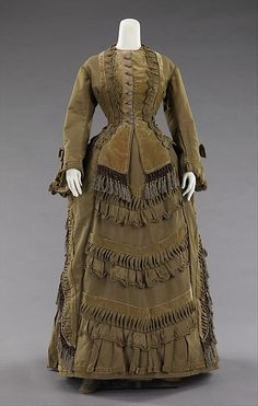 Ensemble Date: ca. 1875 Culture: American Medium: silk, cotton, glass