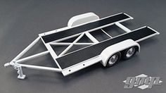 Tandem Car Trailer W/ Tire Rack Grey Scale Diecast Model by GMP 18821 for sale online Custom Hot Wheels, Hot Wheels Cars, Rc Car Track, Lowrider Model Cars, Model Cars Building, Free Paper Models, Tire Rack, Plastic Model Cars, Car Trailer