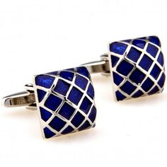 Elegant blue and silver checkered cufflinks appropriate for formal and business events. Great quality and designed for daily use and wear. These cufflinks will complement a blue and gray attire adding a unique flair to your outfit. Blue Cushions, Cufflink Set, Business Gifts, Blue And Silver, Gingham, Jewelry, Shape, Chinese Emperor, Stylish
