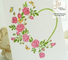 Watercoloring Valentine's Day Floral Wreath Tutorial