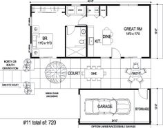 don't need the garage, put screened in porch off bedroom.  Sidekick Homes - Court Home 2