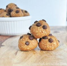 No Bake PB Bites and a Giveaway!    Vegan, gluten free and no processed sugars.  Enter to win a Cuisinart Food Processor!