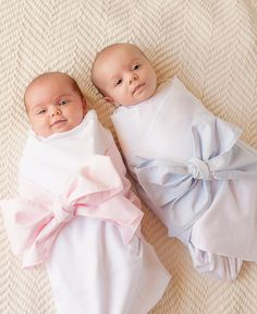 Plantation Pink & Buckhead Blue Sweet Bow Swaddle Blanket - The Beaufort Bonnet Company