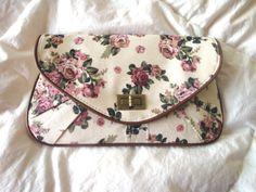 vintage inspired floral clutch