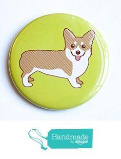 Corgi Dog - Magnet, Pin, or Pocket Mirror from Tiny Bee Cards https://www.amazon.com/dp/B01AXKZSIA/ref=hnd_sw_r_pi_dp_QhR6xbE7JC336 #handmadeatamazon