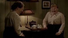 Mrs. Patmore realizes that Mr. Tufton is only interested in her cooking! Good riddance.