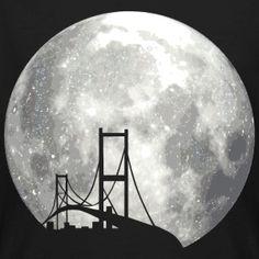 #fullmoon #bridge #night #moonlight