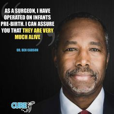 Dr Ben Carson prolife doctor Human life begins at the moment of conception. It is a scientific fact. Pro Life Quotes, I Choose Life, Dr Ben, Political Quotes, Political Topics, Truth And Justice, Ben Carson, Thought Provoking, Life Lessons