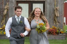 Best man's tie matches Maid of Honor's necklace! Mint farm wedding