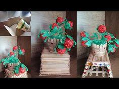 DIY 3 idei cu decoratiuni din carton si sfoara /Masa decorativa,vaza si capsuni decorative - YouTube Gift Wrapping, Animal, Youtube, Gifts, Gift Wrapping Paper, Presents, Wrapping Gifts, Animaux, Gift Packaging