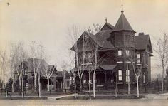 The Albert L Welch Mansion---Colfax & Grant. Albert Brooks started off in the Denver Business scene with a dry goods store, but he soon realized there was a bit more opportunity in the real estate and investment business. The career change paid off, by 1890 his holdings in the Denver area were worth over $1,000,000.00.  Unfortunately, the Welch family home on the corner of Colfax and Grant was torn down in 1913 to make way for the Argonaut Hotel. Courtesy: Old Images of Denver and the West