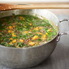 Quinoa Chowder with Sweet Potatoes and Spinach | Food & Wine