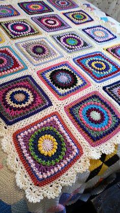 Ravelry: JazzysMom's Textured Circles Multi-Color