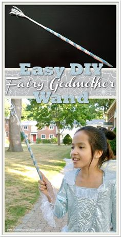This is an easy, low-cost DIY Fairy Godmother magic wand craft to go with the Disney Cinderella Movie: Deluxe Fairy Godmother Costume for girls. Themed Halloween Costumes, Cool Costumes, Halloween Crafts, Halloween Decorations, Halloween Party, Cinderella Fairy Godmother Costume, Fairy Godmother Wand, Magic Wand Craft, Disney Cinderella Movie