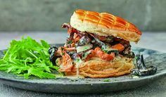 A much easier, vegetarian take on a vol-au-vent, this recipe for wild mushroom galettes from Mary Berry's BBC show, Classic, makes a great starter or light lunch. Wild Mushrooms, Stuffed Mushrooms, Strawberry Pavlova, Pavlova Recipe, Vegan Vegetarian, Vegetarian Entrees, Veggie Meals, Mary Berry, Pastry Recipes